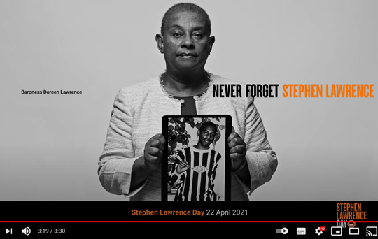 Stephen Lawrence Day – 22 April